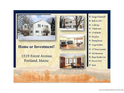 1519 Forest Avenue Portland ME 04103
