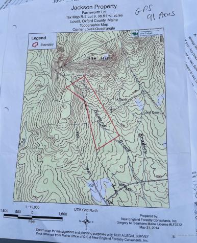 Map R04 Lot 009 Lovell ME 04051
