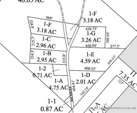 Lot 1-D Oak HIll Road Orland ME 04472